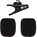 Shure RK378 Replacement Accessory Kit for SM35 Headset Microphone - Includes Clip and 2x Snap-Fit Foam Windscreens