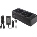 Photo of  Shure SBC240-US 2-Bay Networked Docking Charger w/ Power Supply for ADX1/ADX2/ADX2FD TXs & SB910/SB920 Batteries