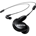 Shure SE215 Wireless Sound Isolating Earphones with Bluetooth Enabled Communication Cable - Black - 22Hz-17.5kHz