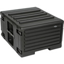 SKB 1SKB-R6UW 6U Space Rack Stacks with Roto Racks Wheels and Handle