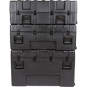 SKB 3R4222-15B-EW R Series Waterproof Utility Case - 15 Inch Deep (empty) with Tow Handle & Wheels