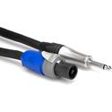 Hosa SKT-250Q Speaker Cable Neutrik speakON to Hosa 1.25 inch TS -  50 ft