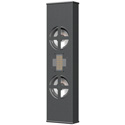 Innovox SL-2.1 R BLK Slim Profile Dual 4 Inch Surface Mount Loudspeakers - Black