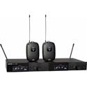 Shure SLXD14D-G58 Dual Combo Wireless Mic System with (2) SLXD1 Bodypacks & SLXD4D Receiver - 470-514Mhz