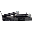 Shure SLXD24D/B58-G58 BETA 58 Dual Vocal Handheld Wireless Mic System - 470-514Mhz