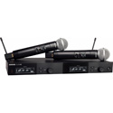 Shure SLXD24D/SM58-H55 SM58 Dual Vocal Handheld Wireless Mic System - 514-558Mhz