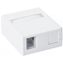 HellermannTyton SMBDUAL-W 2 Port Surface Mount Box-White