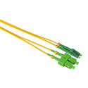 Camplex SMD9-ASC-ALC-001  APC SC to APC LC Singlemode Duplex Fiber Optic Patch Cable  - Yellow - 1 Meter