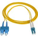 1-Meter 9u/125u Fiber Optic Patch Cable Singlemode Duplex LC to SC - Yellow