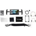 Small HD MON-703U-GM-DK 703 UltraBright Video Monitor with Directors Kit - Gold Mount