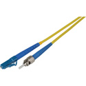 1-FOOT 9u/125u Fiber Optic Patch Cable Singlemode Simplex LC to ST - Yellow