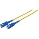 1-Meter 9u/125u Fiber Optic Patch Cable Singlemode Simplex SC to SC - Yellow