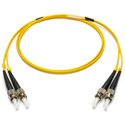 Camplex SMXD9-ST-ST-100 9u/125u Armored Fiber Optic Patch Cable Singlemode Duplex ST to ST - Yellow - 100-Meter
