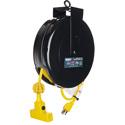Stage Ninja STX-30-3 Retractable Triple Tap 14/3 Power Reel - Yellow - 30 Foot