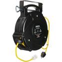Stage Ninja STX-65-1 Retractable 12/3 Power Reel - Yellow - 65 Foot
