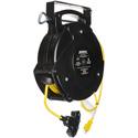 Stage Ninja STX-65-4 Retractable Quad Tap 12/3 Power Reel - Yellow - 65 Foot