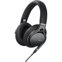 Sony MDR1AM2/B Headphones with Mic - Full Size - Wired - 3.5 mm Jack - Black