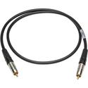 Sescom SPDIF3 Digital Audio Cable Canare SPDIF RCA Male to RCA Male Black - 3 Foot