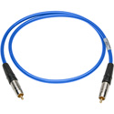 Sescom SPDIF6BE Digital Audio Cable Canare SPDIF RCA Male to RCA Male Blue - 6 Foot