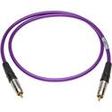 Sescom SPDIF6PE Digital Audio Cable Canare SPDIF RCA Male to RCA Male Purple - 6 Foot
