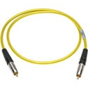 Sescom SPDIF6YW Digital Audio Cable Canare SPDIF RCA Male to RCA Male Yellow - 6 Foot
