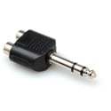 Connectronics Stereo 1/4 Inch TRS Male Plug to Dual RCA Female Jack Audio Adapter