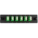 Cleerline SSF-LC12-SM-OS2-APC Plate (Green) SM/APC (OS2) Duplex LC 12-Fiber Zirconia Ceramic Sleeve