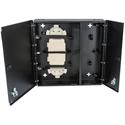 Cleerline SSF-MWM-SPLIT-WL-E4 Medium-Empty Wall Mount with Split Metal Door-One Lock/Key - Accepts 4 Insert Plates