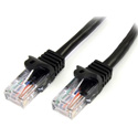 StarTech 45PATCH25BK Snagless Cat5e UTP Patch Cable - Black - 25 Foot