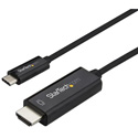 StarTech CDP2HD2MBNL USB C to HDMI Cable - 4K at 60Hz - Black - 6 Foot
