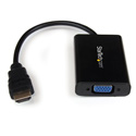 StarTech HD2VGAA2 HDMI to VGA Video Adapter Converter w/Audio for Desktop PC