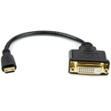 StarTech HDCDVIMF8IN 8in Mini HDMI male to DVI-D female cable adapter