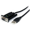 StarTech ICUSB232FTN 1 Port USB to Null Modem RS232 DB9 Serial DCE Adapter Cable with FTDI