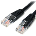 Startech M45PATCH1BK Molded Cat 5e Patch Cable - Black - 1 Foot