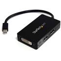 StarTech MDP2DPDVHD Travel A/V Adapter - 3-in-1 Mini DisplayPort to DisplayPort DVI or HDMI Converter