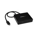 StarTech MSTCDP123DP USB C DisplayPort Hub-3 Port Daisy Chainable USB C to DisplayPort MST Hub USB Type C Monitor Hub