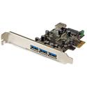 StarTech PEXUSB3S42 4Port PCIe USB 3.0 Adapter Card - 1 Int & 3 Ext