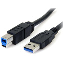 StarTech USB3SAB3BK SuperSpeed USB 3.0 Cable - A to B Male to Male - Black - 3 Foot