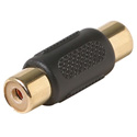 Steren 251-116 RCA Jack to RCA Jack Audio/Video Adapter with Gold Contacts - Black