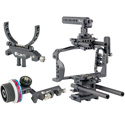 ikan STR-BMPCC4K-KIT STRATUS Cage Kit for Blackmagic Pocket Cinema Camera 4K w/ Follow Focus and Lens Support