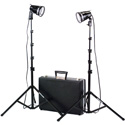Smith Victor 401024 K102 Kit - 2 Light 1200 Watt Portable Attache Kit with Hard Case