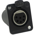 Switchcraft DE6FBAU 6-Pin XLR Female Panel/Chassis Mount Connector - Black/Gold