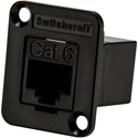Switchcraft EHRJ45P6PKG EH Series RJ45 Cat 6 Feedthru Connector Unshielded - Individually Bagged with 4-40 Screws