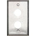 Switchcraft WP1S2 Wall Plate - 1 Gang - 2 E/EH Connector Hole - Non-Threaded Mounting Holes - Stainless Steel Finish