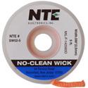 Photo of NTE SW02-25 No-Clean Solder Wick #4 Blue 0.098 Inch Wide 25 Feet