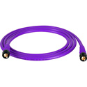 Laird T1694-B-B-15-PE Belden 1694A RG6 w/ Trompeter UPL2000 Black & Gold 3G-SDI BNC Cable - 15 Foot Purple