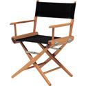 Med Directors Chair - Natural Frame / Black Canvas