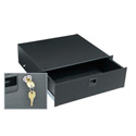 3 Space Textured Rack Drawer w/Lock