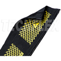 Techflex DRN4 Dura Race 4-Inch Wide Carpet Wire & Cable Protector - Black/Yellow - 25 Foot