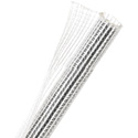 TechFlex F6N0.50 Flexo F6 Self-Wrapping Braided Sleeving - Clear White - 75 Foot